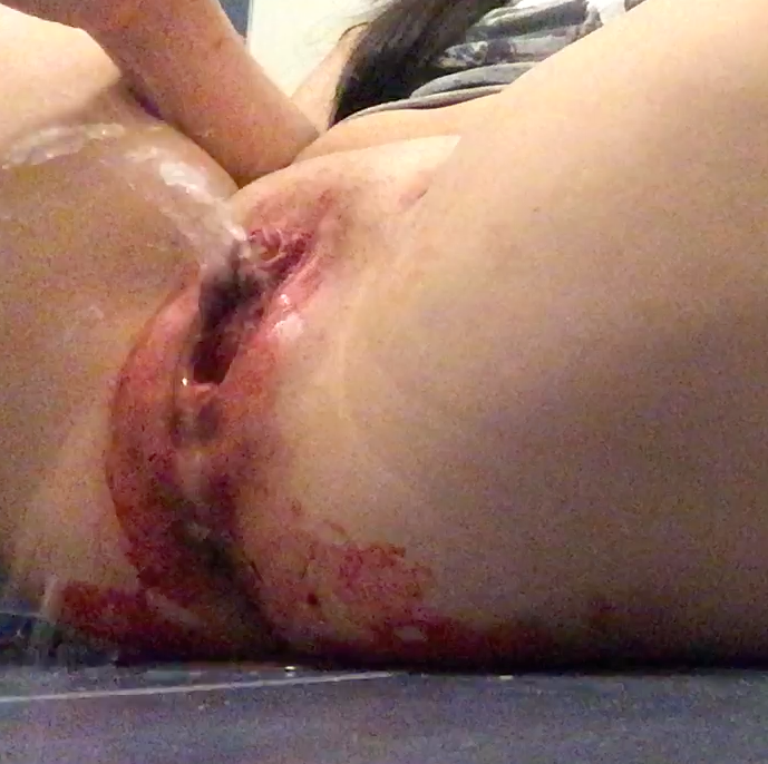 Very female masturbation period ouch